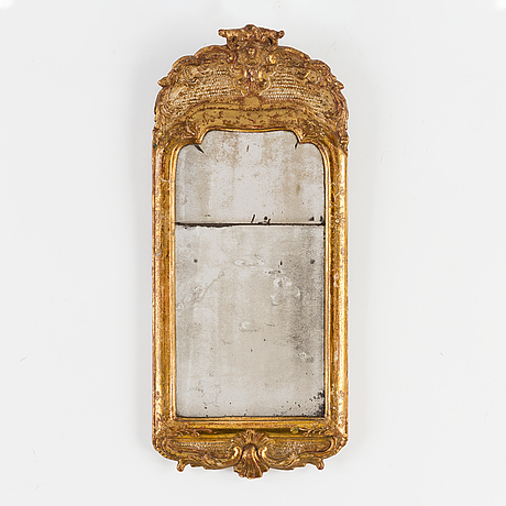 A swedish rococo 18th century mirror.