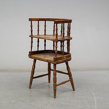 A childs chair and table, latter part of the 19th century.