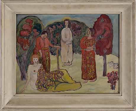 Rudolph thygesen, oil on panel, signed.