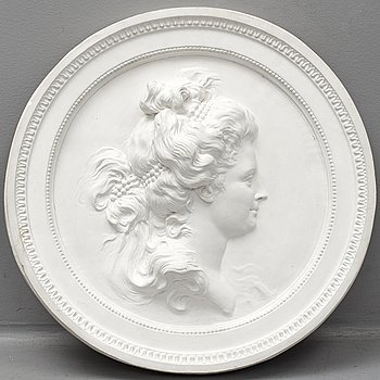 A 21th Century plaster relief, copy after J T Sergel.