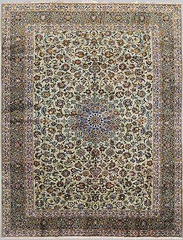 A CARPET, Kashan, signerad Ezani ca 394 x 302 cm.