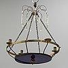 A late gustavian four-light chandelier, circa 1800.
