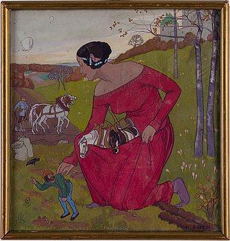 UNKNOWN ARTIST, around, 1900, watercolour, signed A Langhein.
