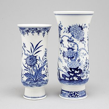 MEISSEN, two porcelain vases from Germany, 20th Century.