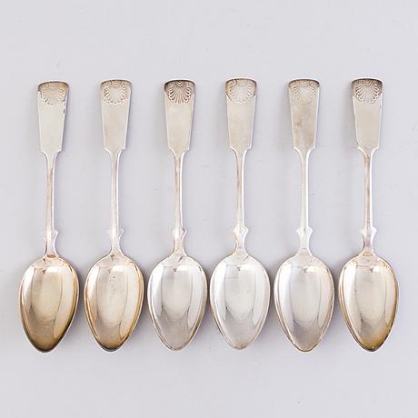 A set of cutlery, ca 60 pieces, silver, finland 20th century