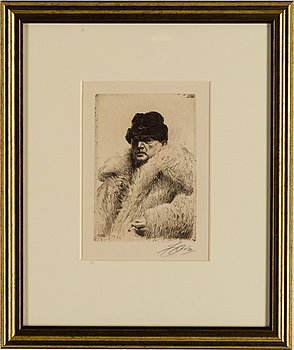 ANDERS ZORN, etching, signed Zorn in pencil.