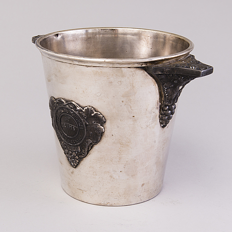 A french advertising champagne cooler by christofle for morlant (de la marne),reims first half of 20th century