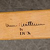 """Bruno mathsson, fåtöljer, ett par samt fotpallar, """"pernilla"""", dux."""