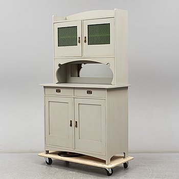 A painted cabinet, early 20th Century.