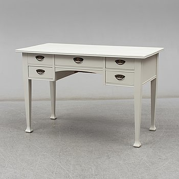 A painted desk, early 20th Century.