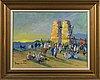 Arne tegelman, oil on canvas, signed