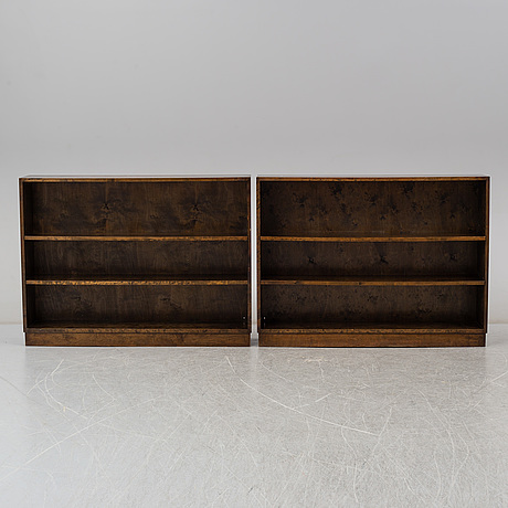 A pair of 1930s book cases