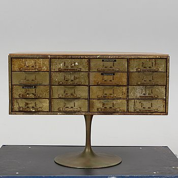 A 20th century metal chest of drawers.