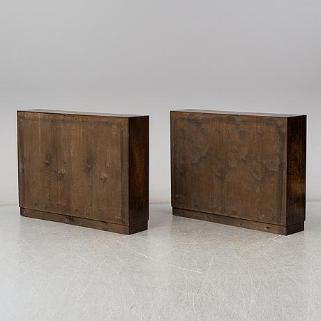 Bokhyllor, ett par. art deco, 1930 tal