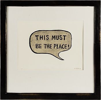"""JAN HÅFSTRÖM, """"This must be the place"""", etching, signed and numbered 42/50."""
