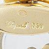 "Chopard pendant and chain, 18k gold, brilliant cut diamonds, emerald, rubies and sapphires "" happy diamonds"""