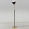 Josef frank, a brass and leather wrapped floor lamp, model 1838, from firma svenskt tenn