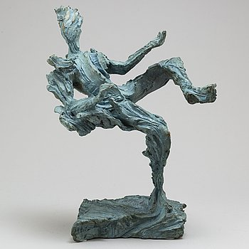 RICHARD BRIXEL, a patinated bronze sculpture, signed, dated -05 and numbered I/VIII.