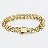 A swedish 20th century 18k gold bracelet mark of stockholms ädelsmide 1965, weight ca 11 gr, length 19 cm