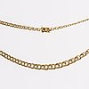 A swedish 20th century 18k gold chain mark of n e södermark kping 1980, weight ca 13,2 gr