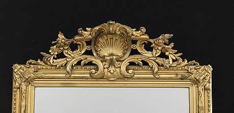 A swedish mid 1800's gilded mirror