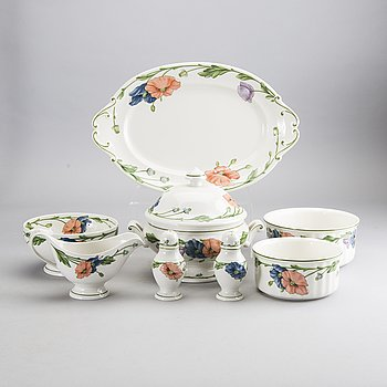 A 56 pcs Villeroy & Bosh Amapola  porselain and enamel dinner service.