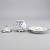 12 porcelain custard cups with saucers, rörstrand, sweden second half of 20th century