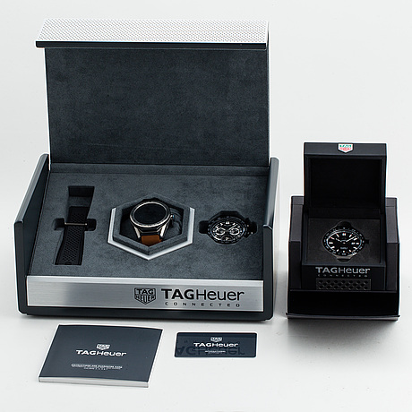 Tag heuer, connected, carrera, tourbillon, kronograf, armbandsur, 45 mm.