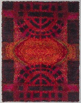RITVA PUOTILA, Finnish machine woven knotted pile ryijy carpet by Oy Finnrya Ab. 178x136 cm.