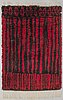 Kirsti ilvessalo, a finnish long pile ryijy rug for the friends of finnish handicraft. circa 168x120 cm.