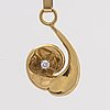 Elon arenhill pendant 18k gold w 1 brilliant cut diamond approx 0,10 ct, malmö 1996