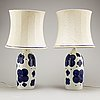Sylvia leuchovius, a pair of '8335' table lamps, from rörstrand