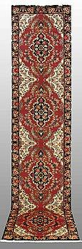 A RUNNER, Tabriz part silk, so called 50 Radj, ca 400 x 90 cm.