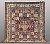 A carpet, figural bakhtiari, ca 394 x 318 cm.