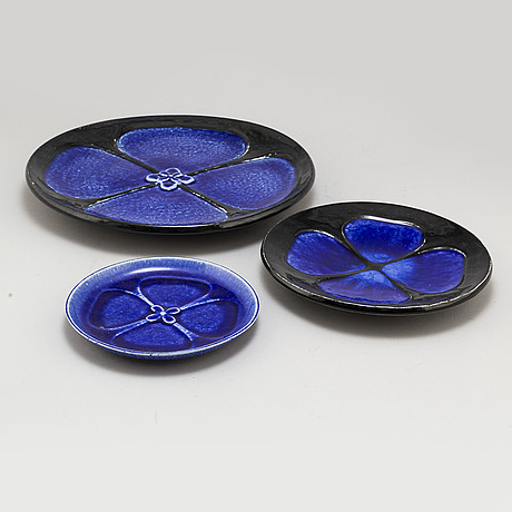 Sylvia leuchovius, eight stoneware dishes, from rörstrand