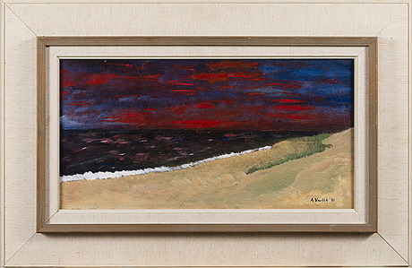 Armas vainio, oil on board, signed and dated 90