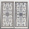 Two nain rugs, part silk, ca 138 x 70  and 139 x 66 cm