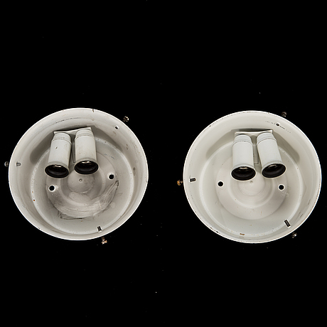"Arne jacobsen, wall lamps, 2 pcs, ""aj-eklipta"", louis poulsen/licensed manufacturer orno, stockmann 1960s."