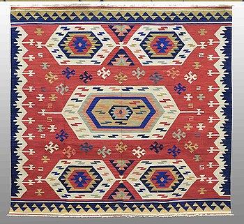 A carpet, Kilim Shiraz, ca 240 x 240 cm.