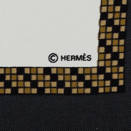 """HermÈs, """"harnais francais premiere empire"""", scarf."""