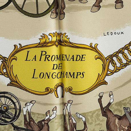 "HermÈs, ""la promenade de longchamps"", scarf"