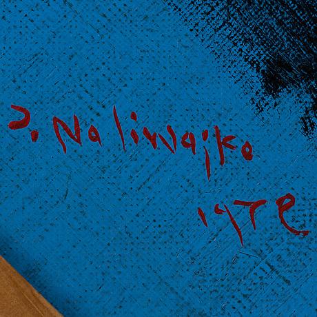 Jan naliwajko, olja på duk, signerad j. naliwajko och daterad 1972