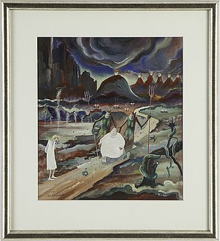 BIRGER BIRGER-ERICSON, gouache/watercolour, signed and dated -30.