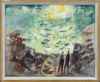 OLEV MIKIVER, oil on canvas, signed.