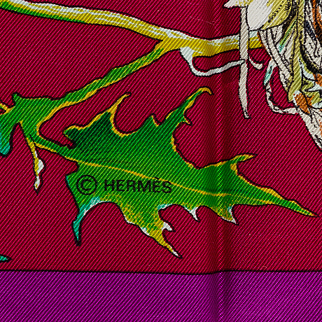 "HermÈs,  ""faune et flore du texas"" (texas wildlife), scarf"