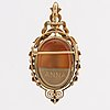 Pendant 18k gold stone cameo and cultured pearls, 21,7 g