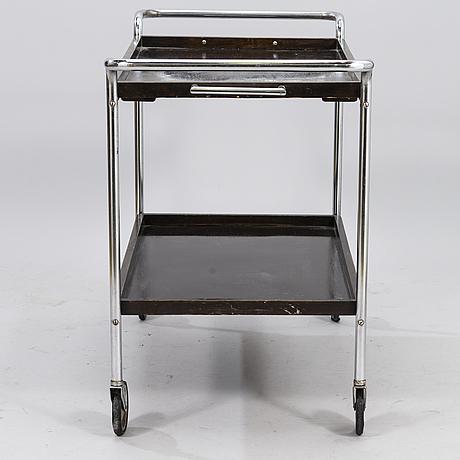 A 1930s tea trolley for helsingin uusi rautasänkytehdas j. merivaara, finland.