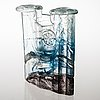 Helena tynell, a glass vase signed napapiirin taidelasi finland helena tynell