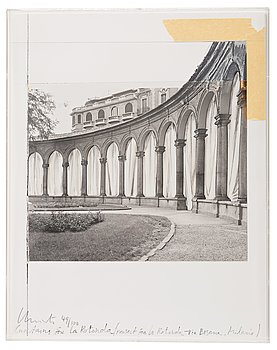 """340. Christo & Jeanne-Claude, """"Curtains for la Rotonda, project for Milan"""" from """"Five Urban Projects""""."""