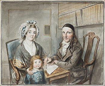 Elias Martin, akvarell. Signerad och daterad.